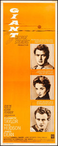 """Movie Posters:Drama, Giant (Warner Brothers, R-1963). Rolled, Very Fine-. Insert (14"""" X36""""). Drama.. ..."""