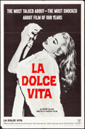 "Movie Posters:Foreign, La Dolce Vita (Astor, 1960) Folded, Very Fine-. One Sheet (27"" X 41""). Foreign...."