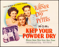 "Keep Your Powder Dry (MGM, 1945). Very Fine. Half Sheet (22"" X 28"") Style A. War"