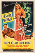 "Movie Posters:Film Noir, Lady on a Train (Universal, 1945). One Sheet (27"" X 41""). Film Noir.. ..."