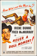 """Movie Posters:Comedy, Never a Dull Moment (RKO, 1950). One Sheet (27"""" X 41""""). Comedy.. ..."""