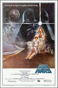 """Star Wars (20th Century Fox, 1977). 2nd Printing One Sheet (27"""" X 41"""") Style A, Tom Jung Artwork. Science Fict..."""