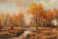 Fine Art - Painting, American, Robert William Wood (American, 1889-1979). Autumn Day. Oilon canvas. 40-1/4 x 50-1/2 inches (102.2 x 128.3 cm). Signed ...