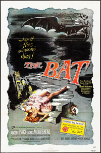 "The Bat (ABC Pictures International, R-1970s). One Sheet (27"" X 41""). Horror"