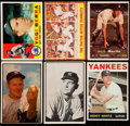 Baseball Cards:Lots, 1950's - 1960's Yew York Yankees HoFers Card Collection (6). ...