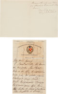 Autographs:Military Figures, [J.E.B. Stuart]. Letter from Mrs. Stuart Signed ...