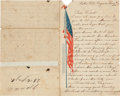 Autographs:Military Figures, [Civil War]. Lewis A. Westfall, Musician in Stockton's Independent Brigade, Autograph Letter Signed....