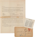 Political:Presidential Relics, James Garfield Group of Campaign Materials.... (Total: 3 )