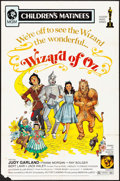"""Movie Posters:Fantasy, The Wizard of Oz (MGM, R-1972). One Sheet (27"""" X 41"""") Children's Matinee Style. Fantasy.. ..."""