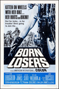 """Born Losers & Other Lot (American International, 1967). One Sheet (27"""" X 41"""") & Lobby Cards (3) (11&qu..."""