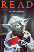 """Movie Posters:Science Fiction, Star Wars: READ... and The Force is with You (American Library Association, 1983). Library Poster (22"""" X 34"""") Yoda Style. Sc..."""