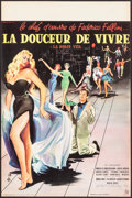 """Movie Posters:Foreign, La Dolce Vita (Consortium Pathé, 1960). French Petite (15.5"""" X 23.5"""") Yves Thos Artwork. Foreign.. ..."""