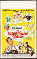 "Movie Posters:Comedy, The Absent-Minded Professor (Buena Vista, 1961). Very Fine-. WindowCard (14"" X 22""). Comedy.. ..."