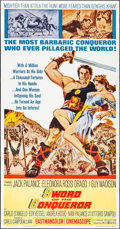 """Movie Posters:Adventure, Sword of the Conqueror (United Artists, 1962). Folded, Very Fine+.Three Sheet (41"""" X 79""""). Adventure.. ..."""