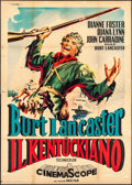 "Movie Posters:Western, The Kentuckian (Gold Film, R-1962). Italian 4 - Fogli (55.25"" X 77.25"") Enrico De Seta Artwork. Western.. ..."