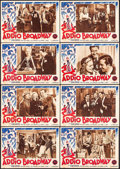 "Movie Posters:Comedy, The Great American Broadcast (20th Century Fox, 1946). First Post-War Italian Photobusta Set of 16 (19.5"" X 14""). Comedy.. ... (Total: 16 Items)"