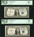 Error Notes:Obstruction Errors, Fr. 1608 $1 1935A Silver Certificates. Consecutive Pair PCGSExtremely Fine 40.. ... (Total: 2 notes)