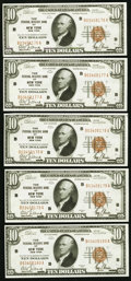 Small Size:Federal Reserve Bank Notes, Fr. 1860-B $10 1929 Federal Reserve Bank Notes. Eleven Consecutive Examples. Crisp Uncirculated.. ... (Total: 11 notes)
