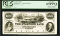 Obsoletes By State:Connecticut, Stamford, CT- Stamford Bank $100 18__ G36 Proof. ...