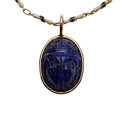 Estate Jewelry:Pendants and Lockets, Lapis Lazuli, Enamel, Gold Pendant-Necklace. ...