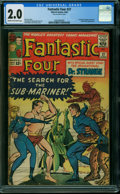 Silver Age (1956-1969):Superhero, Fantastic Four #27 (Marvel, 1964) CGC GD 2.0 CREAM TO OFF-WHITE pages.