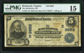 National Bank Notes:Virginia, Manchester, VA - $5 1902 Date Back Fr. 593 The Manchester NB Ch. #(S)9663. ...