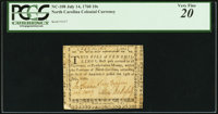 North Carolina July 14, 1760 10s PCGS Very Fine 20
