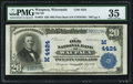 National Bank Notes:Wisconsin, Waupaca, WI - $20 1902 Plain Back Fr. 653 Old NB Ch. # (M)4424. ...