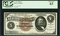 Large Size:Silver Certificates, Fr. 263 $5 1886 Silver Certificate PCGS Choice New 63.. ...