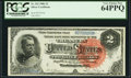 Large Size:Silver Certificates, Fr. 242 $2 1886 Silver Certificate PCGS Very Choice New 64PPQ.. ...