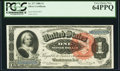 Large Size:Silver Certificates, Fr. 217 $1 1886 Silver Certificate PCGS Very Choice New 64PPQ.. ...