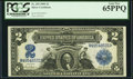 Large Size:Silver Certificates, Fr. 255 $2 1899 Silver Certificate PCGS Gem New 65PPQ.. ...