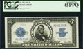 Large Size:Silver Certificates, Fr. 282 $5 1923 Silver Certificate PCGS Extremely Fine 45PPQ.. ...