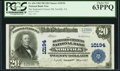 National Bank Notes:Virginia, Norfolk, VA - $20 1902 Plain Back Fr. 654 The Seaboard Citizens NBCh. # 10194. ...