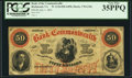 Obsoletes By State:Virginia, Richmond, VA- Bank of the Commonwealth $50 July 1, 1861 G18a Jones BR15-41. ...