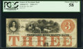 Obsoletes By State:Iowa, Ashland, IA- Farmers and Merchants Bank $3 Oct. 26, 1857 Oakes 5-3(New). ...