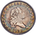 Early Half Dollars, 1795 50C 2 Leaves, O-130, T-8, Low R.5, VF30 PCGS. CAC....