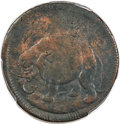 1694 1/2 P Carolina Elephant Token, PROPRIETORS -- Environmental Damage -- PCGS Genuine Secure. VF Details. Hodder 2-F...