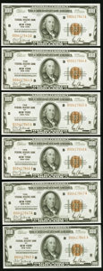 Small Size:Federal Reserve Bank Notes, Fr. 1890-B $100 1929 Federal Reserve Bank Notes. Six Consecutive Examples. Choice Crisp Uncirculated.. ... (Total: 6 )