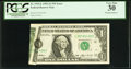 Error Notes:Foldovers, Fr. 1919-L $1 1993 Federal Reserve Note. PCGS Very Fine 30.. ...
