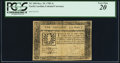Colonial Notes:North Carolina, North Carolina December 29, 1785 1s Wreath PCGS Very Fine 20.. ...