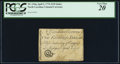 Colonial Notes:North Carolina, North Carolina April 2, 1776 $1/8 Snake biting sword in scabbard PCGS Very Fine 20.. ...