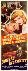 "Movie Posters:Film Noir, Double Indemnity (Paramount, 1944). Insert (14"" X ..."