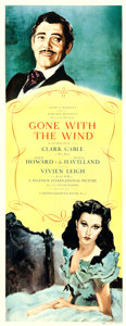 "Movie Posters:Academy Award Winners, Gone with the Wind (MGM, 1939). Insert (14"" X 36"") Armando SegusoArtwork.. ..."