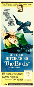 """Movie Posters:Hitchcock, The Birds (Universal, 1963). Insert (14"""" X 36"""").. ..."""