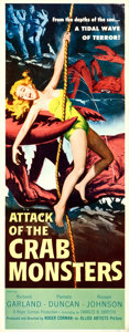 Movie Posters:Science Fiction, Attack of the Crab Monsters (Allied Artists, 1957).