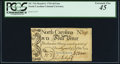 Colonial Notes:North Carolina, North Carolina March 9, 1754 4d Lion PCGS Extremely Fine 45.. ...