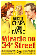 "Movie Posters:Comedy, Miracle on 34th Street (20th Century Fox, 1947). One Sheet (27"" X 41"").. ..."