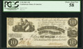Confederate Notes:1861 Issues, T28 $10 1861 PF-10 Cr. 236B.. ...
