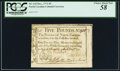 Colonial Notes:North Carolina, North Carolina December, 1771 £5 Drum, cannon & flags PCGSChoice About New 58.. ...